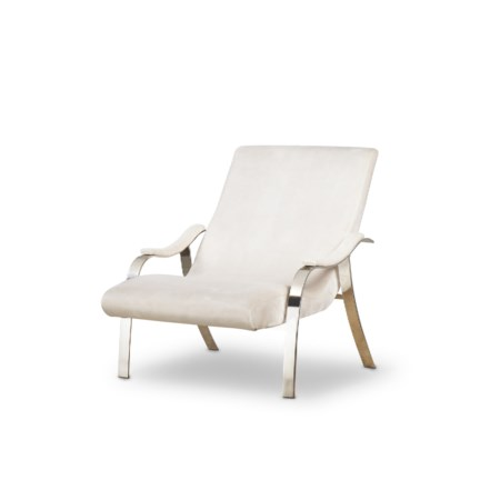 Mantis Lounge Chair - Harry Velvet Natural