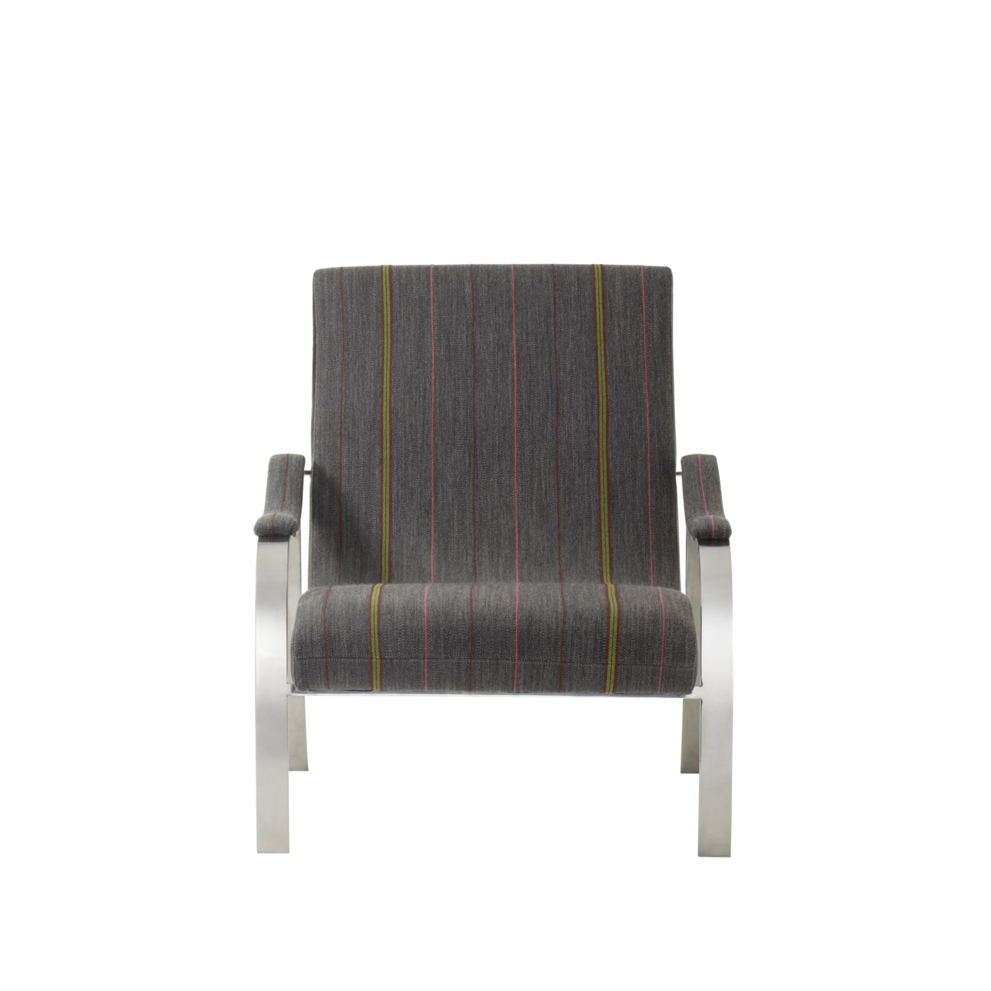 Mantis Lounge Chair - Mick Charcoal  & Destroyed Black Leather