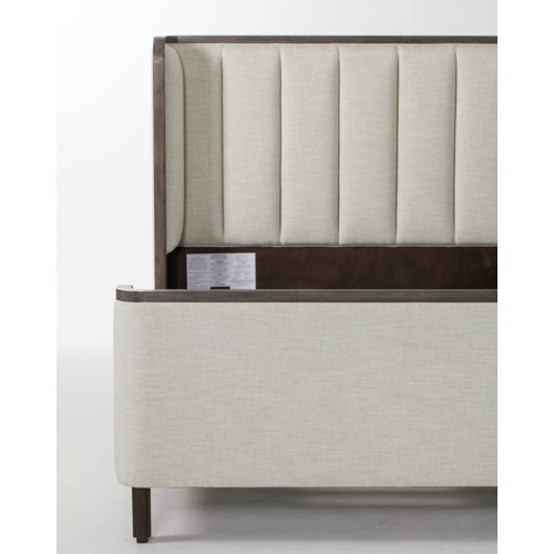 Ripley Bed - US King / Madison Dove with Brown Frame