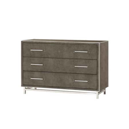 Mansfield Chest - 3 Drawer / Grey