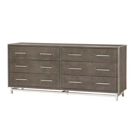 Mansfield Chest - 6 Drawer / Grey