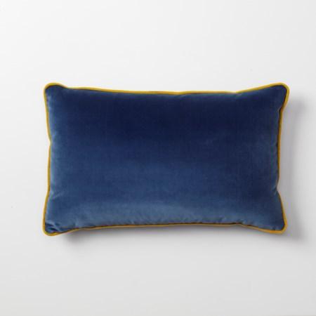 Throw Pillow - 53 x 33, Vana Blue Velvet body