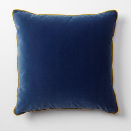 Throw Pillow - 56 x 56, Vana Blue Velvet body