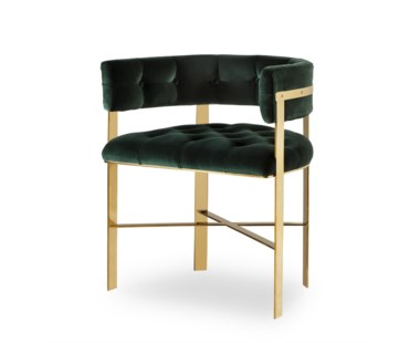 Art Dining Chair - Mirrored Brass / Tufted - Grade 1