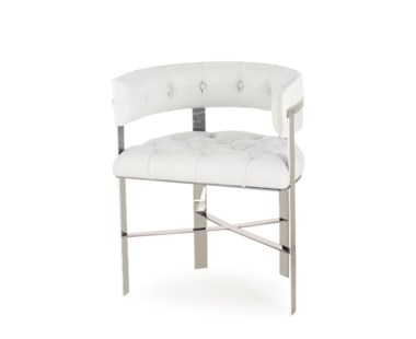 Art Dining Chair - Stainless Steel / Tufted - Grade 1