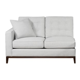 Copeland Loveseat - Left Arm Facing / Wood Base - Grade 1