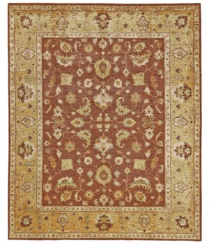 ADOLPHUS 0921F IN RUST/GOLD 3' x 5'