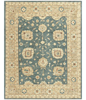 "ADOLPHUS 0922F IN GREEN/GOLD 5'-6"" x 8'-6"""
