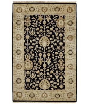 DRAKE 6047F IN BLACK/BEIGE 4' x 6'