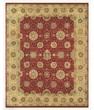 "DRAKE 6048F IN RED/BEIGE 5'-6"" x 8'-6"""