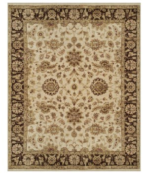 "DRAKE 6049F IN IVORY/BROWN 5'-6"" x 8'-6"""