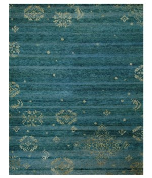 "QING 6064F IN TEAL 7'-9"" x 9'-9"""