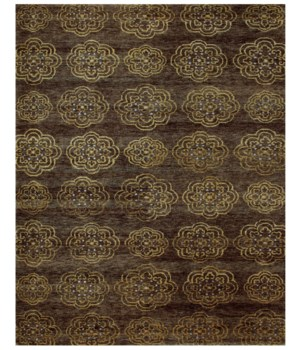 "QING 6065F IN BROWN 8'-6"" x 11'-6"""