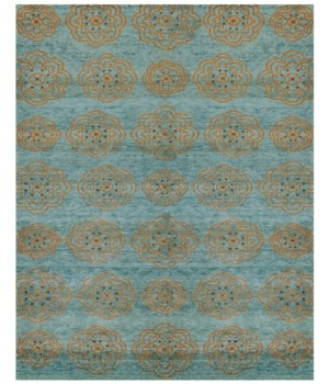 "QING 6065F IN TEAL 7'-9"" x 9'-9"""