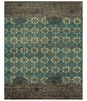 QING 6066F IN SILVER SAGE 2' x 3'