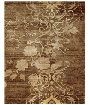 "QING 6067F IN BROWN 5'-6"" x 8'-6"""