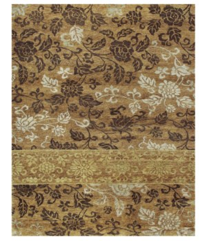 "QING 6069F IN GOLD 7'-9"" x 9'-9"""