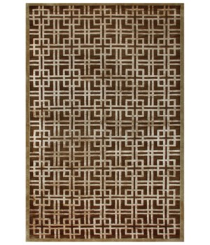 "DIM SUM 6072F IN BROWN/GOLD 5'-6"" x 8'-6"""