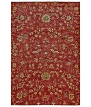 """MATA HARI 9501F IN RED 5'-6"""" x 8'-6"""""""