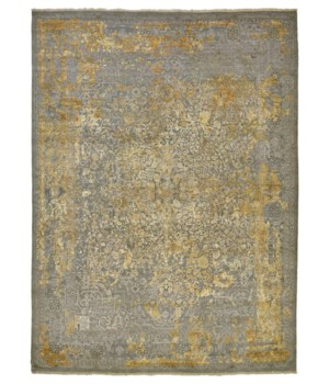 """DOSHI 6032L IN GRAY/GOLD 7'-9"""" x 9'-9"""""""
