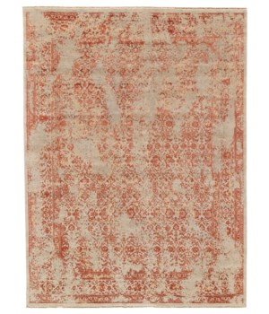 """DOSHI 6034L IN RUST/IVORY 7'-9"""" x 9'-9"""""""