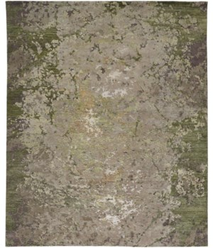 "ADIRA 6026L IN SILVER/GREEN 7'-9"" x 9'-9"""