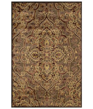 "SAPHIR AZAR 3109F IN COFFEE/RUST 7'-6"" X 10'-6"""