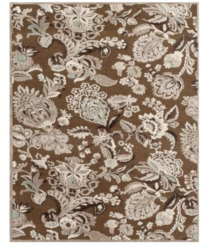 "SAPHIR ZAM 3112F IN COFFEE/GRAY 2'-2"" x 4'"