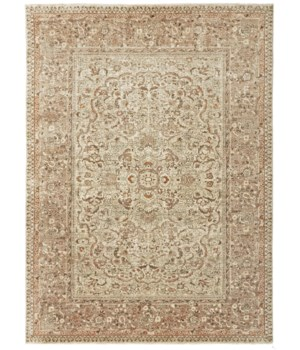 """OURAY 6131F IN IVORY/RUST 5'-6"""" x 8'-6"""""""