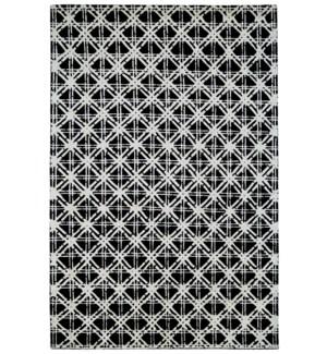 BAMBOO LATTICE 7054F IN BLACK-WHITE
