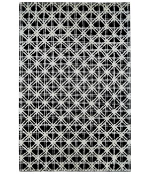 BAMBOO LATTICE 7054F IN BLACK/WHITE 4' x 6'
