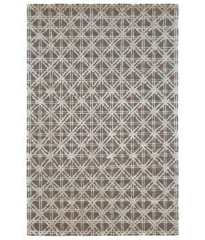 BAMBOO LATTICE 7054F IN SILVER/GRAY 4' x 6'