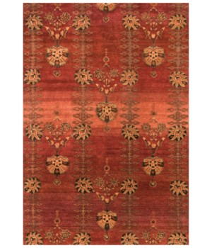 "VARDO 6171F IN POMEGRANATE 5'-6"" x 8'-6"""