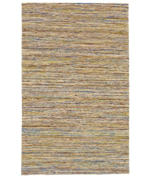 "ARUSHI 0504F IN TEAL/BEIGE 3'-6"" x 5'-6"""