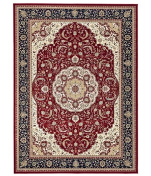 """DARIA 3982F IN RED/NAVY 2'-2"""" x 4'"""