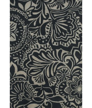 "PORTICO 8496F IN GRAY/BLACK 9'-6"" x 13'-6"""