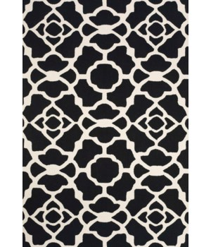 "CETARA 4106F IN BLACK/WHITE 3'-6"" x 5'-6"""