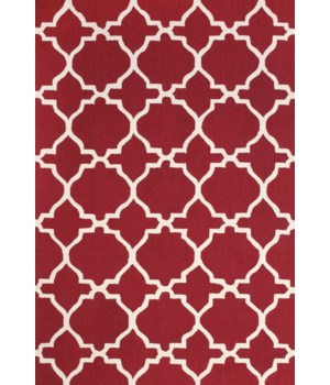 CETARA 4107F IN RED/WHITE 5' x 8'