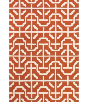 CETARA 4109F IN ORANGE/WHITE 5' x 8'