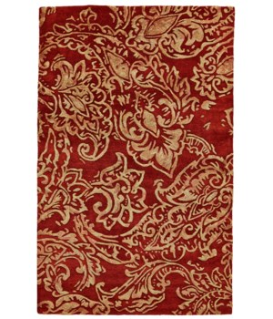 "MAHSA 8401F IN RED/MULTI 3'-6"" x 5'-6"""