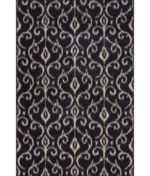 "AZERI 3842F IN BLACK/ECRU 1'-8"" X 2'-10"""