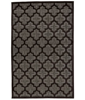 "RAPHIA II 3284F IN BLACK/CHARCOAL 2'-1"" X 4'"