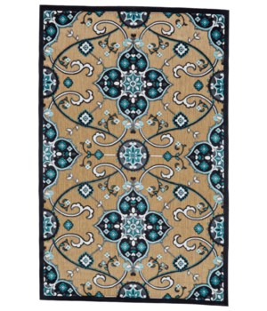 RAPHIA II 3285F IN TAN/CHARCOAL 5' X 7'-6""