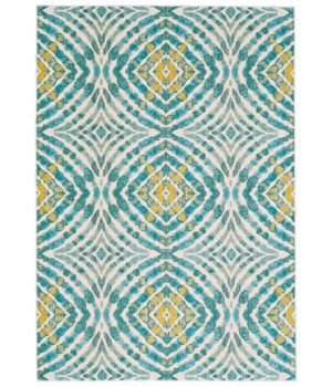 "KEATS 3469F IN TEAL 2'-2"" x 4'"