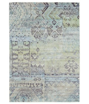 "KATARI 3376F IN MINT/TAUPE 4'-3"" X 6'-3"""