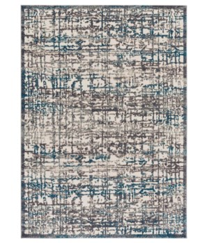 "AKHARI 3677F IN GRAY/TURQUOISE 1'-6"" X 1'-6"" Square"