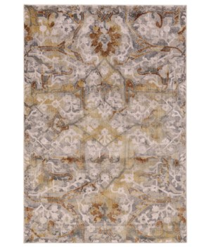 CANNES 3685F IN GRAY/YELLOW 5' x 8'