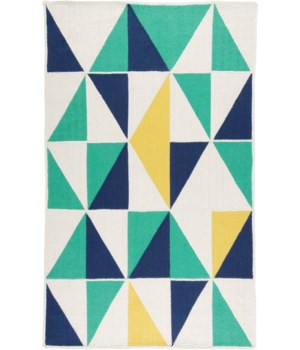 CLARE 0526F IN SEA GREEN/MULTI 5' x 8'