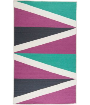 CLARE 0529F IN PURPLE/MULTI 5' x 8'