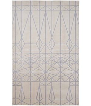 MICAH 3045F IN IVORY/SILVER 5' x 8'